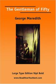 Cover of: The Gentleman of Fifty | George Meredith