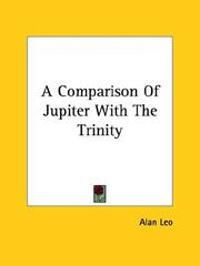 Cover of: A Comparison of Jupiter With the Trinity | Alan Leo