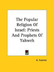 Cover of: The Popular Religion of Israel | A. Kuenen