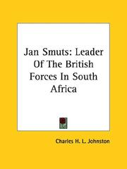 Cover of: Jan Smuts | Charles H. L. Johnston