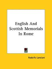 Cover of: English and Scottish Memorials in Rome by Rodolfo Lanciani