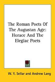 Cover of: The Roman Poets of the Augustan Age | Andrew Lang