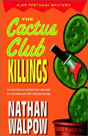 Cover of: The Cactus Club Killings by Nathan Walpow