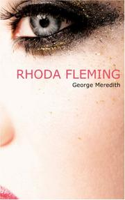 Cover of: Rhoda Fleming by George Meredith