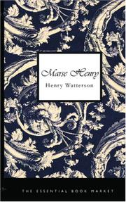 Cover of: Marse Henry | Watterson, Henry