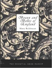 Cover of: Beaux and Belles of England | Mary Robinson