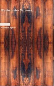 Cover of: Westminster sermons by Charles Kingsley