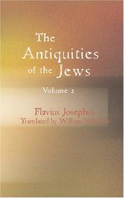 Cover of: The Antiquities of the Jews Volume 2 by Flavius Josephus