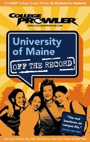Cover of: University of Maine by College Prowler