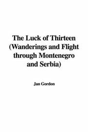 Cover of: The Luck of Thirteen | Jan Gordon