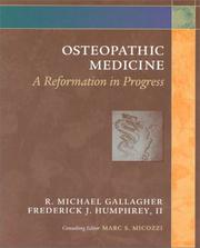 Cover of: Osteopathic medicine | R. Michael Gallagher