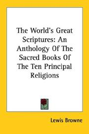 Cover of: The World's Great Scriptures | Lewis Browne