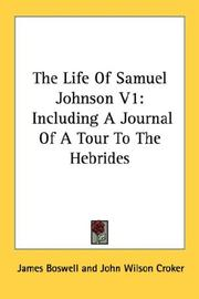 Cover of: The Life Of Samuel Johnson V1 | James Boswell