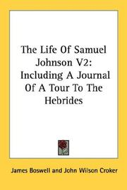 Cover of: The Life Of Samuel Johnson V2 by James Boswell