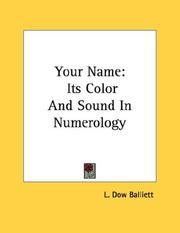 Cover of: Your Name | L. Dow Balliett