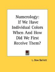 Cover of: Numerology | L. Dow Balliett