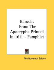 Cover of: Baruch | The Nonesuch Edition