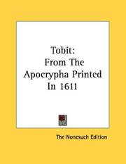 Cover of: Tobit | The Nonesuch Edition