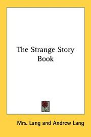 Cover of: The Strange Story Book by Andrew Lang