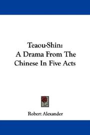 Cover of: Teaou-Shin | Robert Alexander