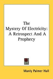 Cover of: The Mystery Of Electricity | Manly Palmer Hall
