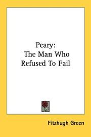 Cover of: Peary by Fitzhugh Green