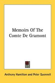 Cover of: Memoirs of the comte de Gramont by Anthony Hamilton