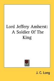 Cover of: Lord Jeffery Amherst | J. C. Long