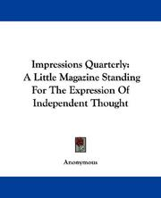 Cover of: Impressions Quarterly by Anonymous