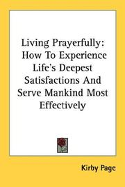 Cover of: Living Prayerfully | Kirby Page