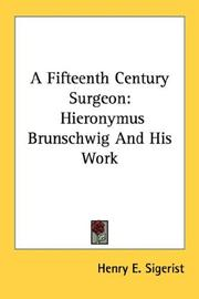 Cover of: A Fifteenth Century Surgeon | Henry E. Sigerist