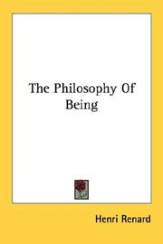 Cover of: The philosophy of being | Henri Renard