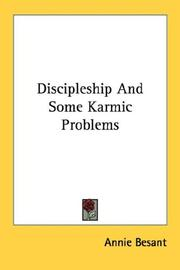 Cover of: Discipleship And Some Karmic Problems | Annie Wood Besant