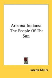 Cover of: Arizona Indians | Joseph Miller