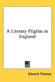 Cover of: A Literary Pilgrim in England | Edward Thomas