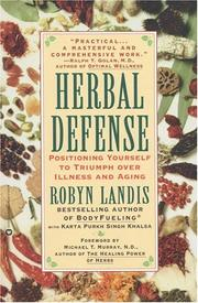 Cover of: Herbal defense | Robyn Landis