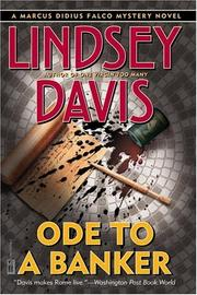 Cover of: Ode to a Banker (Davis, Lindsey. Falco Series.) by Lindsey Davis