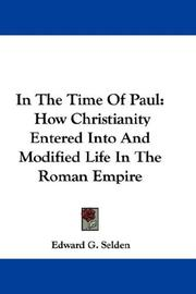 Cover of: In The Time Of Paul | Edward G. Selden