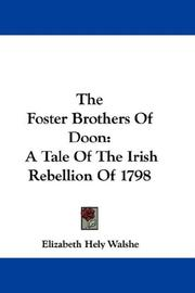 Cover of: The foster-brothers of Doon by Elizabeth Hely Walshe