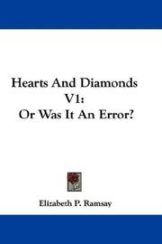 Cover of: Hearts And Diamonds V1 | Elizabeth P. Ramsay