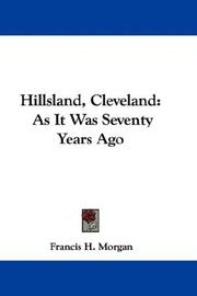 Cover of: Hillsland, Cleveland | Francis H. Morgan