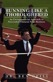 Cover of: Running Like A Thoroughbred | Dr Ben Ofili