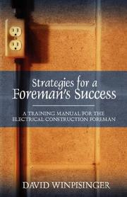 Cover of: Strategies for a Foreman's Success | David E Winpisinger