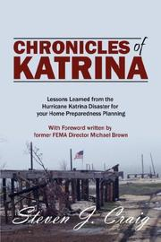 Cover of: Chronicles of Katrina | Steven J Craig CEM