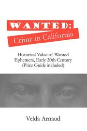 Cover of: Wanted | Velda Arnaud