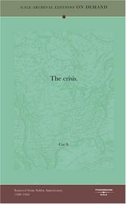 Cover of: The crisis | Cae S.