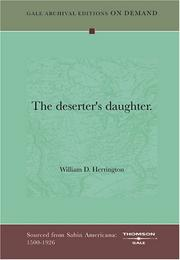 Cover of: The deserter's daughter | William D. Herrington