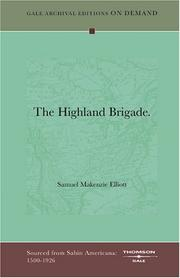 Cover of: The Highland Brigade | Samuel Makenzie Elliott