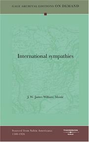 Cover of: International sympathies | J. W. (James William) Massie