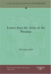 Cover of: Letters from the Army of the Potomac | Alfred Janson Bloor
